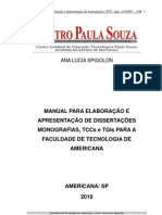 Manual de Normas de Trabalho e Projeto de TCC