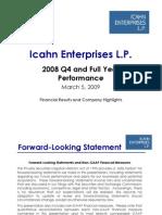 Icahn Enterprises 4Q Earnings Presentation