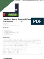 Consulta de Base de Datos Con JSP Usando Una Clase Java Separada - ChuWiki