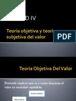 Teoría objetiva y teoría subjetiva del valor