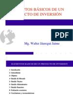 CONCEPTOS BÁSICOS DE UN PROYECTO DE INVERSIÓN