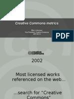 Creative Commons Metrics Presentation
