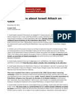 Top Ten Myths About Israeli Attack on Gaza by Juan Cole