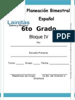 6to Grado - Bloque 4 - Español