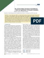 Mejorando La Estabilidad Aceite en Agua de Emulsiones de Coco