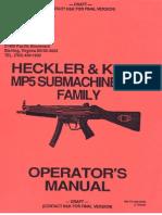 heckler & koch h&k mp5 submachine gun