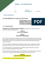 RJ005 Plano Diretor Do Municipio Do Rio 1992