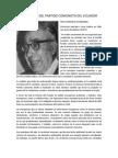 LA FUNDACIÓN DEL PARTIDO COMUNISTA DEL ECUADOR ES