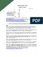 Complete Publication List on August 1, 2013