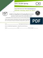Spring DLSSP Registration Form