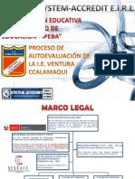 Proceso Autoevaluación en Colegio Ventura Ccalamaqui