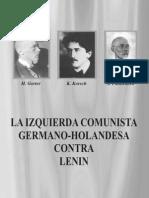 La Izquierda Comunista Germano-holandesa Contra Lenin; Gorter, Korsch y Pannekoek