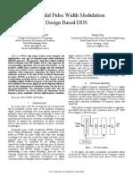 Sinusoidal Pulse Width Modulation Design Based DDS