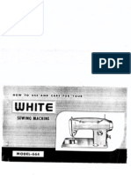 White 664 Sewing Machine manual
