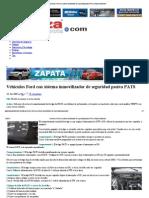 Vehículos Ford con sistema inmovilizador de seguridad pasiva PATS _ Alianza Automotriz