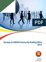 Surveys on ASEAN Community Building Effort 2012