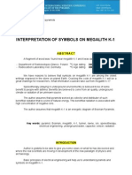INTERPRETATION OF SYMBOLS ON MEGALITH K-1