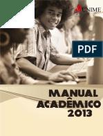 Manual do acadêmico 2013.1