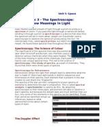 topic 3 - the spectroscope