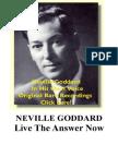 Neville Goddard PDF - Live the Answer Now