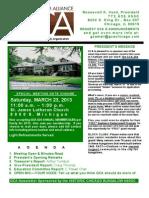 March 2013 GCA Newsletter