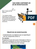 ELEMENTOS QUE DEBE CONTENER UN PROBLEMA DE INVESTIGACIÓN