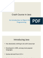 Crash Course in Java
