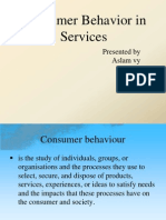 consumer behaviour fo rservices