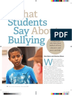 What Students Say About Bullying