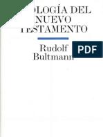 Rudolf Bultmann Teologia Del N