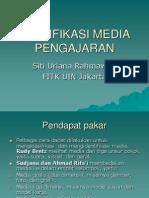 Klasifikasi Media Pengajaran