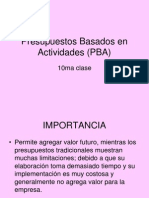 10ma Clase Presupuestos Por Actividades