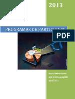 Tarea 3-4 Programas de Particiones