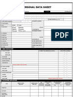 Personal Data Sheet Form