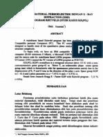 Analisis Material Ferroelektrik Dengan XRD