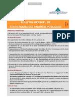 Bulletin Mensuel des Statistiques des Finances Publiques (Janvier 2013)