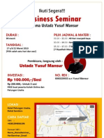 Bussiness Seminar Yusuf Mansur