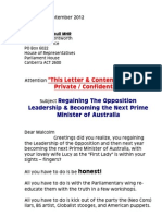 Letter to Malcolm Turnbull MHR - 1