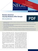 Russian-American Security Relations After Georgia