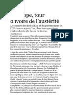 L'Europe, tour d'ivoire de l'austérité