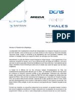 lettre des industriels à F  Hollande - mars 2013