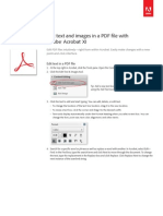 Adobe Acrobat Xi Edit Text and Images in a PDF File