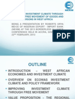 Improving the Investment Climate through the Free Movement of People and Goods in West Africa