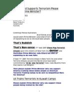 Julia Gillard Supports Terrorism Please Explain Prime Minister