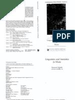 Linguistics and Semiotics in MuSIC