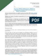 Arret Eon c. France Offense Au President de La Republique Et Liberte Dexpression