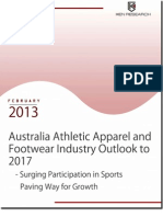 Australia Athletic Apparel and Footwear Industry to reach USD 1.7 billion by 2017