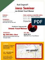 Business Seminar bersama Ustadz Yusuf Mansur