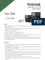 Catalogo de Nobreak SMS Sinus Triad Rack e Torre 1,2 e 3,1 kVA (21001 110417)