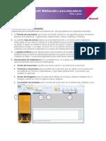 Microsoft_mathmatics Step by Step Guide Esp